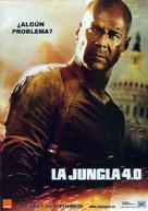 Live Free or Die Hard - Spanish Movie Poster (xs thumbnail)