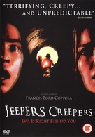 Jeepers Creepers - British DVD movie cover (xs thumbnail)