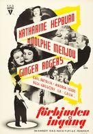 Stage Door - Swedish Movie Poster (xs thumbnail)