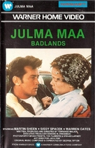 Badlands - Finnish VHS movie cover (xs thumbnail)