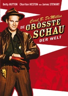 The Greatest Show on Earth - German DVD cover (xs thumbnail)