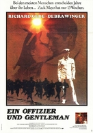 An Officer and a Gentleman - German Movie Poster (xs thumbnail)