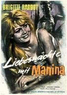 Manina, la fille sans voiles - German Movie Poster (xs thumbnail)