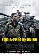 Fury - Romanian Movie Poster (xs thumbnail)