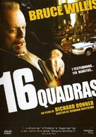 16 Blocks - Portuguese DVD cover (xs thumbnail)