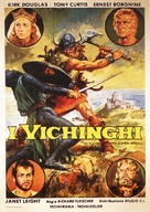 The Vikings - Italian Movie Poster (xs thumbnail)