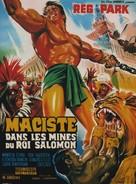 Maciste nelle miniere di re Salomone - French Movie Poster (xs thumbnail)