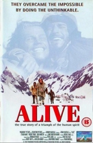 Alive - British VHS movie cover (xs thumbnail)