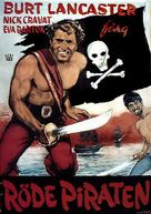 The Crimson Pirate - Swedish Movie Poster (xs thumbnail)