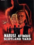 Scotland Yard jagt Dr. Mabuse - French Movie Poster (xs thumbnail)
