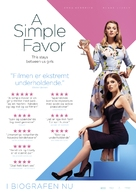 A Simple Favor - Danish Movie Poster (xs thumbnail)