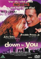 Down To You - Danish poster (xs thumbnail)