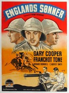 The Lives of a Bengal Lancer - Danish Movie Poster (xs thumbnail)