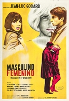 Masculin, féminin: 15 faits précis - Argentinian Movie Poster (xs thumbnail)