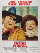 Rooster Cogburn - French Movie Poster (xs thumbnail)
