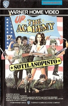 Up the Academy - Finnish VHS movie cover (xs thumbnail)