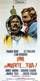 ¡Viva la muerte... tua! - Italian Movie Poster (xs thumbnail)