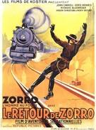 Zorro Rides Again - French Movie Poster (xs thumbnail)