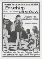 Et Dieu... créa la femme - Dutch Movie Poster (xs thumbnail)