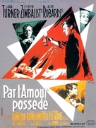 By Love Possessed - French Movie Poster (xs thumbnail)