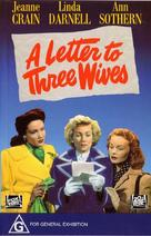 A Letter to Three Wives - Australian DVD movie cover (xs thumbnail)