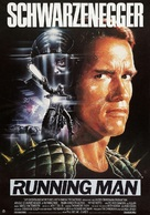 The Running Man - German Theatrical poster (xs thumbnail)
