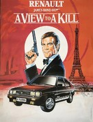 A View To A Kill - French Movie Poster (xs thumbnail)