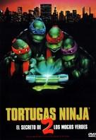 Teenage Mutant Ninja Turtles II: The Secret of the Ooze - Spanish DVD cover (xs thumbnail)