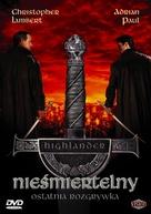 Highlander: Endgame - Polish DVD movie cover (xs thumbnail)