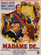 Madame de... - Belgian Movie Poster (xs thumbnail)