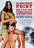 Zabriskie Point - German Movie Poster (xs thumbnail)