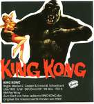 King Kong - German Movie Poster (xs thumbnail)