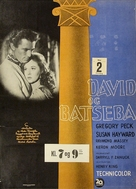 David and Bathsheba - Danish Movie Poster (xs thumbnail)
