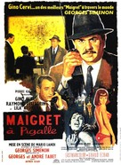 Maigret à Pigalle - French Movie Poster (xs thumbnail)