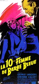 Bluebeard's Ten Honeymoons - French Movie Poster (xs thumbnail)
