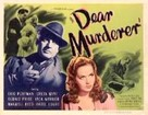 Dear Murderer - Movie Poster (xs thumbnail)