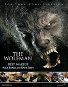 The Wolfman - For your consideration movie poster (xs thumbnail)