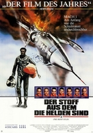 The Right Stuff - German Movie Poster (xs thumbnail)