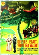 How Green Was My Valley - French Movie Poster (xs thumbnail)