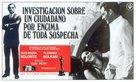 Indagine su un cittadino al di sopra di ogni sospetto - Spanish Movie Poster (xs thumbnail)