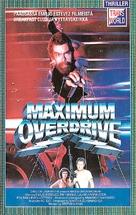Maximum Overdrive - Finnish VHS movie cover (xs thumbnail)