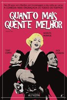 Some Like It Hot - Brazilian Movie Poster (xs thumbnail)
