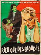 Blondin i fara - French Movie Poster (xs thumbnail)