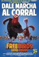 Free Birds - Spanish Movie Poster (xs thumbnail)