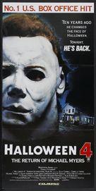 Halloween 4: The Return of Michael Myers - Australian Movie Poster (xs thumbnail)