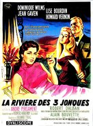 La rivière des 3 jonques - French Movie Poster (xs thumbnail)