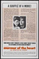 Le souffle au coeur - Movie Poster (xs thumbnail)