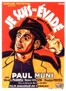 I Am a Fugitive from a Chain Gang - French Movie Poster (xs thumbnail)