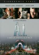Artificial Intelligence: AI - Czech DVD movie cover (xs thumbnail)