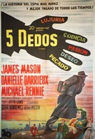 5 Fingers - Argentinian Movie Poster (xs thumbnail)